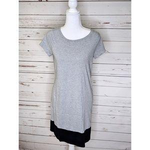 Boden | Colorblock Gray Navy A Line Dress
